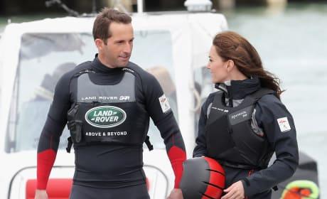 Kate Middleton Prepares To Board a Catamaran