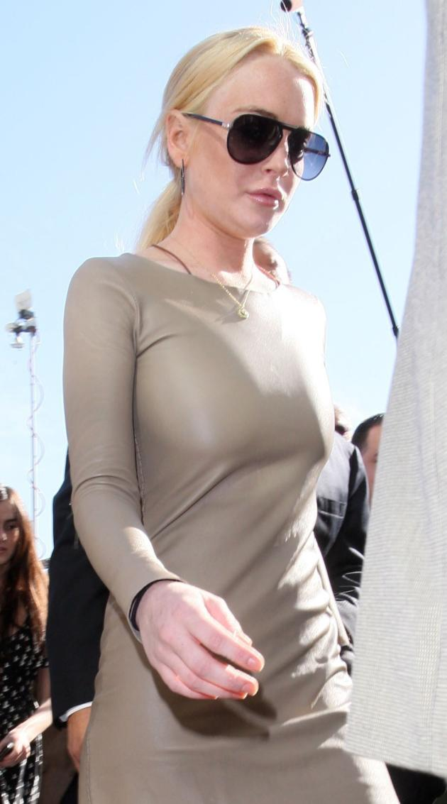 Lindsay Lohan in a Tight Dress