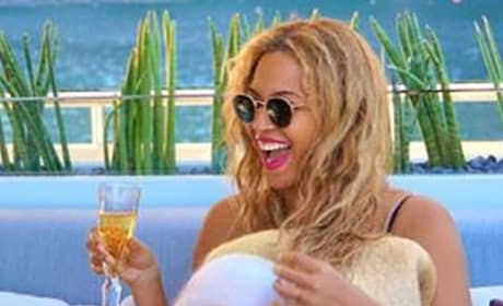 Beyonce with Champagne