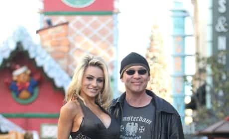 Courtney Stodden and Doug Hutchison Strike Pose