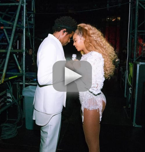 Beyonce and jay z fan rushes the stage gets epic beatdown