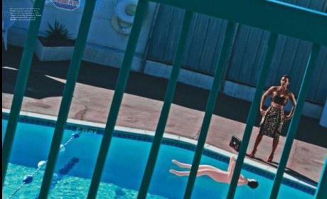 Kim Kardashian By the Pool