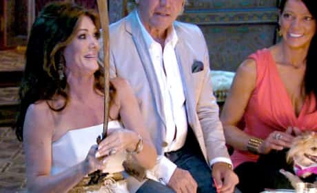 Lisa Vanderpump with a Sword