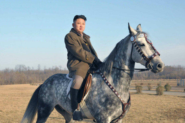 Kim Jong Un on a Horse!