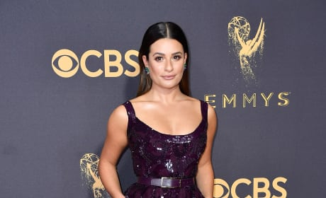 Lea Michele at 2017 Emmy Awards
