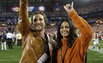Matthew McConaughey and Camila Alves Hook Horns