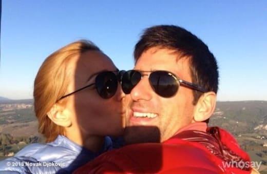 Novak Djokovic and Jelena Ristic