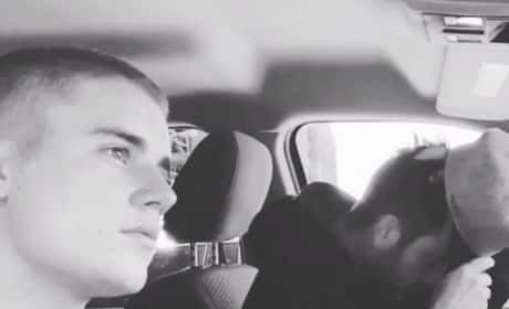 Justin Bieber Rides Shotgun
