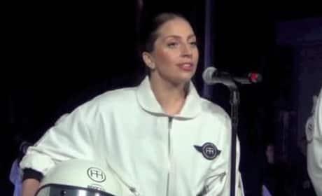 Lady Gaga Flying Dress