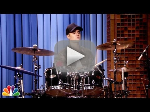 Ass drumming on justin bieber song 2