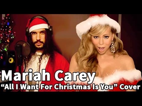 "Man Sings ""All I ... Christmas Songs On Youtube Mariah Carey"