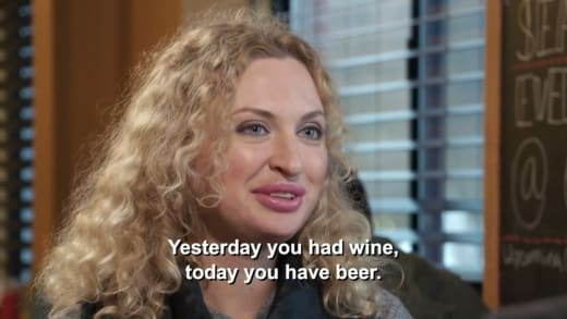 Natalie Mordovtseva - yesterday you have wine, today you have beer