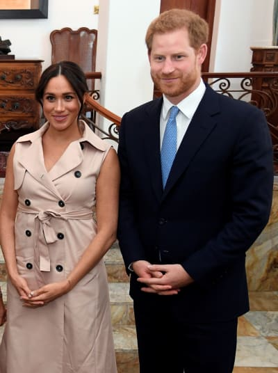 Meghan Markle and Prince Harry in S. Africa