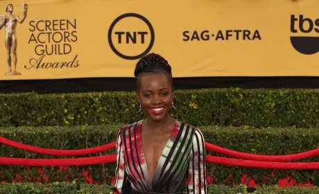 Lupita Nyong'o at the SAG Awards