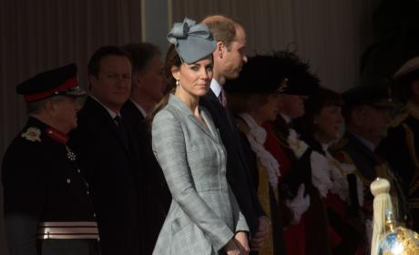 Will and Kate: Ceremonial Welcome For President of Singapore