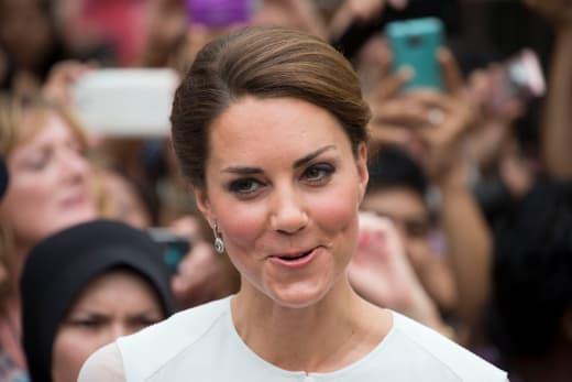 Kate Middleton Smirks