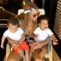Beyonce with Sir and Rumi Carter