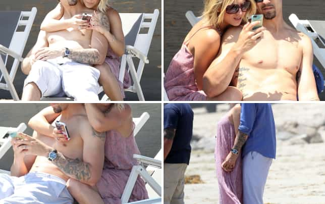 Kaley cuoco and ryan sweeting at the beach