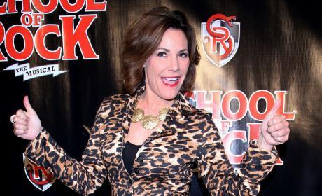 Luann de Lesseps: Broadway Opening Night Performance of 'School of Rock'