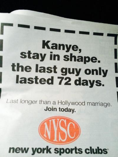 New York Sports Club Ad