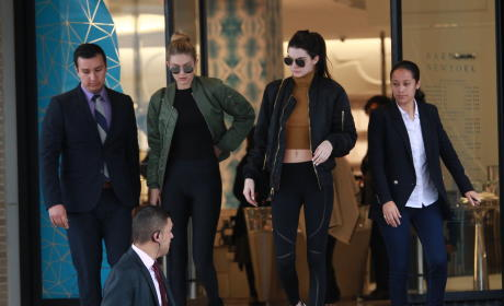 Kendall Jenner and Gigi Hadid Go Shopping in Beverly Hills