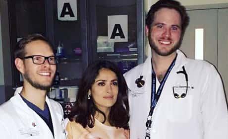 Salma Hayek Hospital Photo