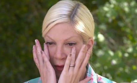 Tori Spelling Cries