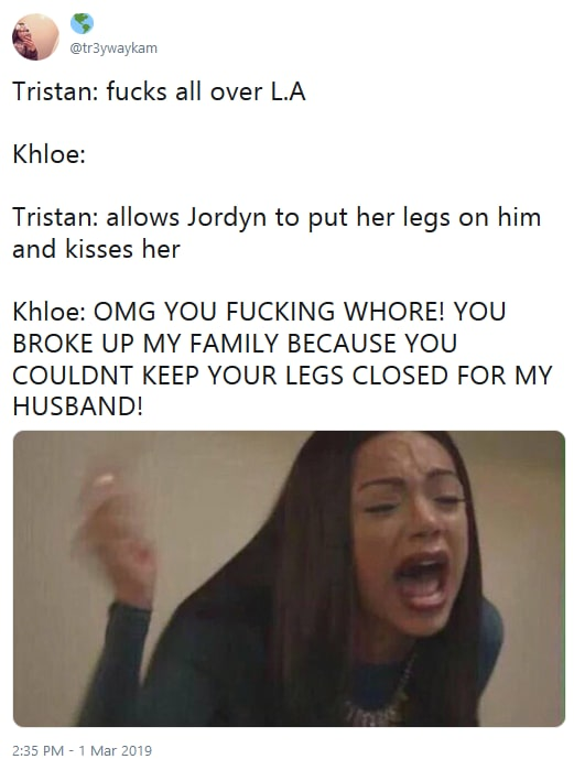 Khloe vs jordyn and jada tweet 02 yell cry