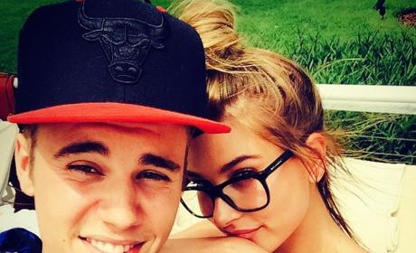 Justin Bieber and Hailey Baldwin Selfie