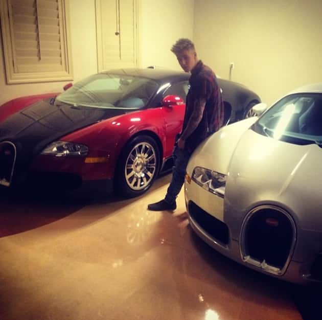 Justin Bieber and His Cars