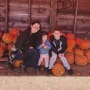 Jenelle Evans with Ensley, Jace, and Pumpkins