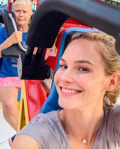 Meghan King Edmonds with Frightened Old Lady