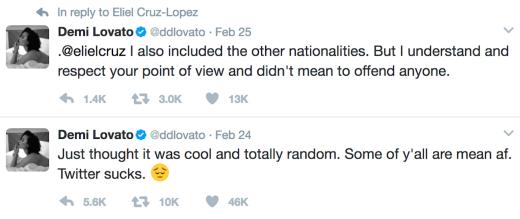 Demi Lovato tweets
