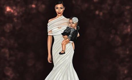 Kim Kardashian Caricature