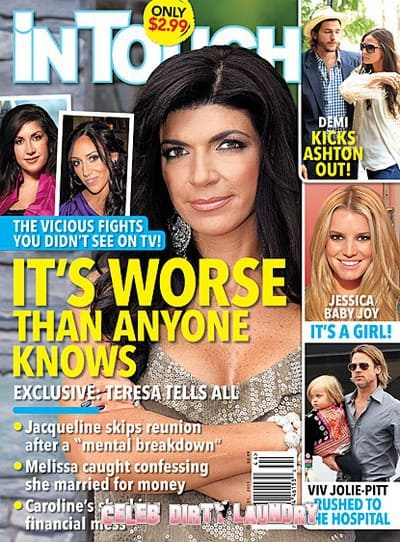 Teresa Giudice In Touch Weekly Cover