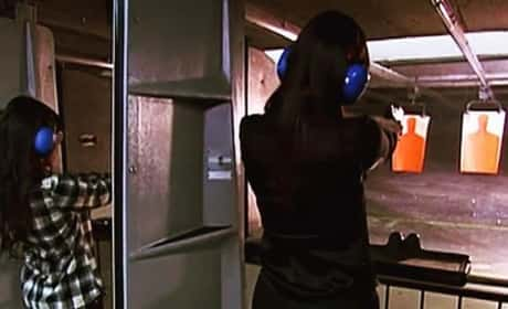 Kourtney Kardashian with a Gun