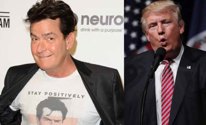 Charlie Sheen Shares Nude Portrait of Donald Trump