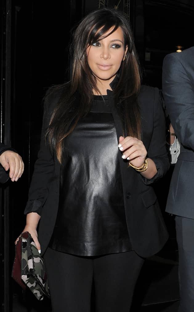 Kim Kardashian in Leather