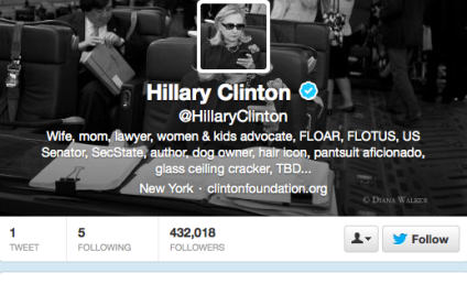 Hillary Clinton Joins Twitter, Possibly Drops 2016 Hint