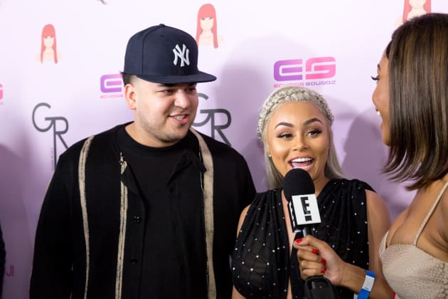 Rob Kardashian and Blac Chyna Chat With E! On The Red Carpet