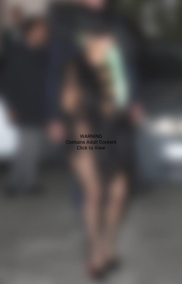 Lady Gaga Nude Leather Dress