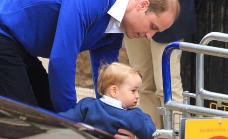 Prince George Meets Princess Charlotte