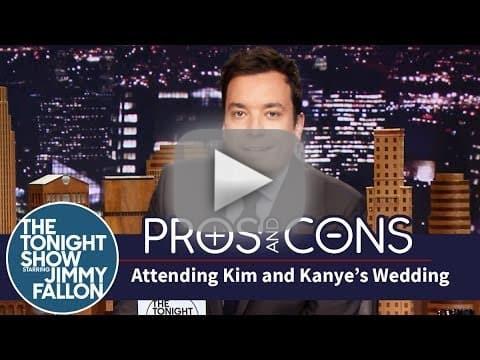 Jimmy Fallon: Kimye Wedding Pros and Cons