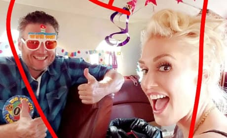 Blake Shelton Celebrates 40th Birthday With Gwen Stefani: PHOTOS