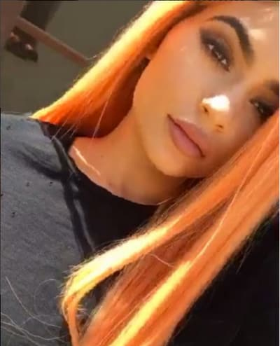 Kylie Jenner with orange hair