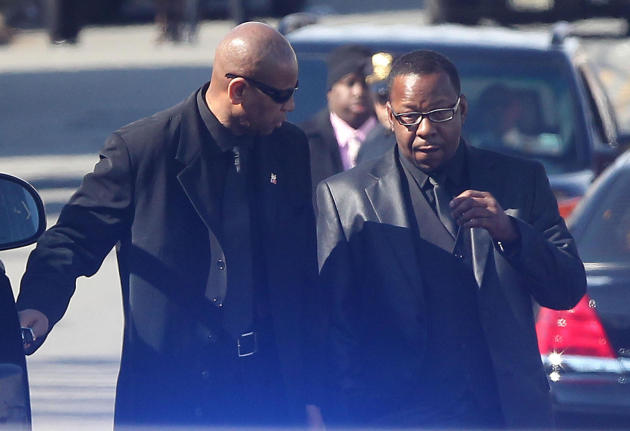 Bobby at Whitney's Funeral