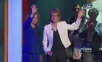 Gabrielle Giffords Leads Inspiring Pledge of Allegiance at Democratic National Convention