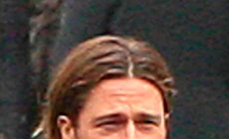 Brad Pitt, World War Z Set