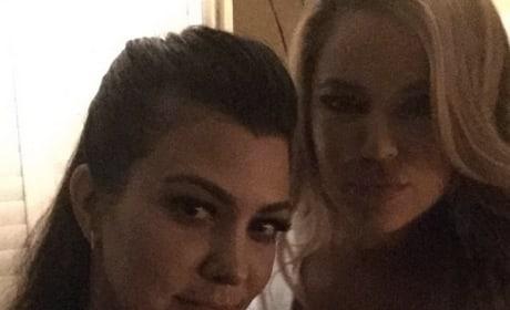 Kourtney and Khloe Instagram Pic