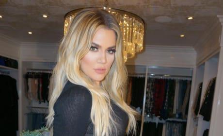 Khloe Kardashian Black Dress Counter
